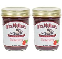 Mrs. Miller's Amish Homemade Strawberry Jam 9 Ounces - Pack of 2