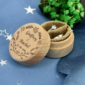Wedding Wood Ring Box Holder Custom Wedding Ring Bearer Box Makeup Box Gift Box