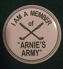 "Arnold Palmer Arnie's Army 2.25"" Pinback Button Badge Pin PGA Championship Tiger"