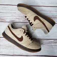 half off ff911 ded59 Nike Dunk Low Premium Hemp Net Medium Brown Gum SB 307696-121 SIZE 7.5 RARE