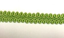 Braid 12mm Gimp Lime Green Col 62 Rayon Trim Buy by the Metre Upholstery Craft