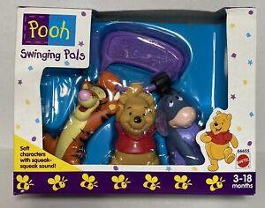 ~ NEW Mattel Disney 1990's Pooh Swinging Pals Tigger Winnie the Pooh & Eeyore
