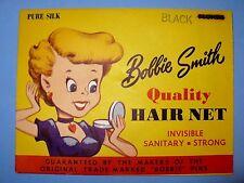 Vintage 1950'S Bobbie Smith Hair Net 100% Silk Black Never Used