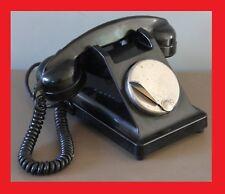 TELEPHONE ANCIEN BAKELITE PTT CADRAN MAGNETO VINTAGE DECO INDUSTRIELLE COMBINE