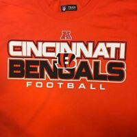 Cincinnati Bengals NFL Football Team Apparel Adult Mens T Shirt Size XL L