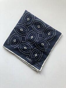 Drake's of London Pocket Square Japanese Silk Bandana Handkerchief