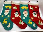 Vintage Felt Stockings Set Of 4 Must See!!