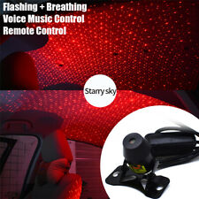 Music Control USB Red LED Atmosphere Lamp Star Light Interior Trim Car Party