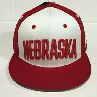 NEBRASKA CORNHUSKERS NCAA ADIDAS Official Cap red snapback FLAT BRIM OSFM NWT!