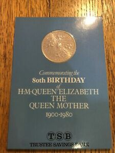 1980 ROYAL MINT QUEEN MOTHER 80th BIRTHDAY CROWN IN TSB PACK