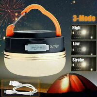 Portable Rechargeable LED Hiking Camping Tent Lantern Light USB Lamp Outdoor an