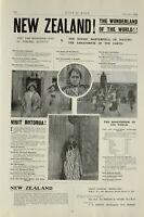 1903 PRINT NEW ZEALAND ADVERTISEMENT ADVERT ROTORUA TOURIST