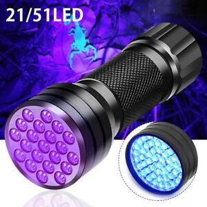 51 LED lampe torche lampe poche Ultra lumière noire violet détecteur taches SH