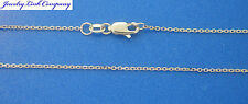 "14K Solid White Gold Diamond Cut Boston Link Chain 30"" 2.6grams 1.2mm (030)"