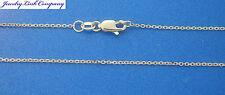 "14K Solid White Gold Diamond Cut Boston Link Chain 30"" 2.6grams 1.2mm (030)"