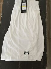 Mens Under Armour Size Medium White Heat Gear Pull On Athletic Shorts NWTS