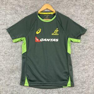 Australia Wallabies Mens T-Shirt Size S Small Slim Fit Green Short Sleeve 11.14