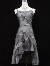 Cherlone Grey Prom Party Ball Evening Bridesmaid Formal Knee Length Dress 18