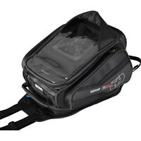 Oxford S30R Strap-on Tank Bag 30L Black Motorcycle Motorbike Sat-Nav Map Holder