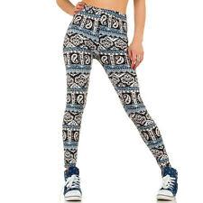 Sexy Hose Leggins Leggings Legging All Over Muster mehrfrabig blau XS S M L
