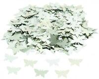 SILVER Butterfly Birthday wedding CONFETTI SPRINKLES TABLE DECORATIONS Girls!