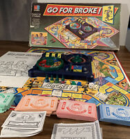 Vintage MB Games Go For Broke 1993 Edition Family Fun Board Game Retro