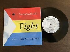 "SPANDAU BALLET Fight For Ourselves UK 7"" 1986 NM/EX+ vinyl 45 single A7264"