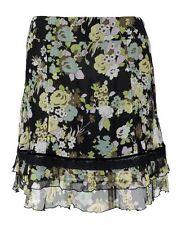 LIU JO Rock 44 (I) 38 (D) reine Seide Blumen schwarz skirt jupe wie neu