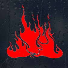 Fire Flames Car Or Laptop Decal Vinyl Sticker For Window Body Panel Bumper