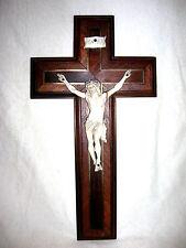 Antikes Kreuz Kruzifix Corpus Christi Dieppe 19. Jahrh. feine Bein 31cm