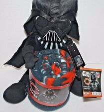 Star Wars Darth Vader NFL Chicago Bears Fleece Blanket Hugger Throw Set 40 x 50