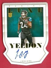 """2015 PANINI LUXE (FB) T.J. Yeldon SSP """"DIE-CUT"""" AUTO ROOKIE/RC CHASE CARD #d 4/5"""
