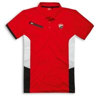 DUCATI CORSE POWER Polo T-Shirt kurzarm rot weiß schwarz NEU