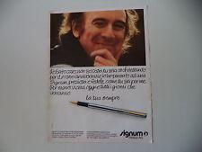 advertising Pubblicità 1980 PELIKAN SIGNUM