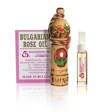 Bulgarian Rose Oil Bulgarian Rosa Damascena Rose OTTO 1.0 gr Wooden Souvenir