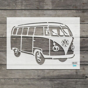 VW Camper Van reusable STENCIL Retro Car Decor Wall Art Vintage Style Template