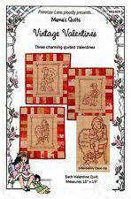 VINTAGE VALENTINES HAND EMBROIDERED QUILT PATTERN, from Primrose Lane, *NEW*