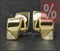 Diamant Ohrstecker, Lupenreine 0,15ct Brillanten, 585 Gold Ohrringe, Neu