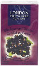 London Fruit & Herb Co Blackcurrant Bracer Fruit Tea 20 Bags (Pack of 6)