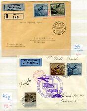 Liechtenstein 1930 vuelo post con raros etappenflügen (66564c