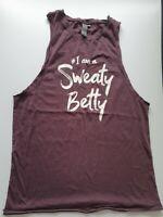 Sweaty Betty Gym Slogan  Tank Top Size XS Purple