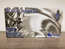 Exam Glove BLACK ARMOR® Medium NonSterile Nitrile Standard Cuff Black