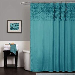 "Lush Decor Lillian Shower Curtain | Textured Shimmer Circle Design Bathroom, 72"""
