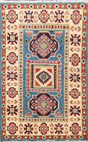 Geometric Super Kazak Traditional Oriental Area Rug Hand-Knotted 2x3 ft Carpet
