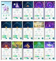 Pokemon Account Go Level 37-38 - 57x Legendary - 82x Shiny (Pichu) - 181xHatched