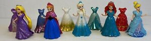 Disney Magic Clip Dolls X5 Bundle With Extra Dresses