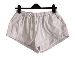 LEGOE. Maternity White Thick Cotton Drawstring Shorts. Size 1. GUC