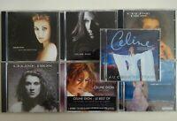 CELINE DION : UN VRAI SURVOL DE SA CARRIERE  ♦ lot 7 x CD Album ♦
