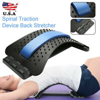 Back Stretcher Spinal Traction Lower Lumbar Support Pain Acupuncture Massager