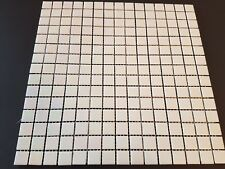 Pearlesant white Glass mosaics 20x20mm squares in 30x30cm sheets / wetroom